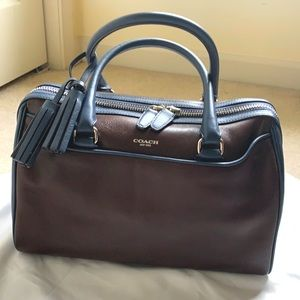 Coach rare leather bicolor satchel
